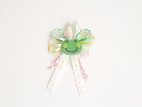 Froggy Frog Baby Shower Corsage for Mother Boy or Girl (Mixed Color Froggy Frog Theme) ()