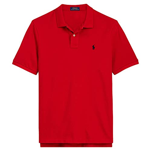 Mesh Big Polo Pony - Polo Ralph Lauren Classic Fit Mesh Pony Logo Polo Shirt (XL, RL2000Red)