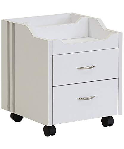 J&A Wood Top Pedicure Cart – White