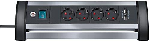 Brennenstuhl Steckdosenleiste mit USB-Ladefunktion 4-fach, 1394000514