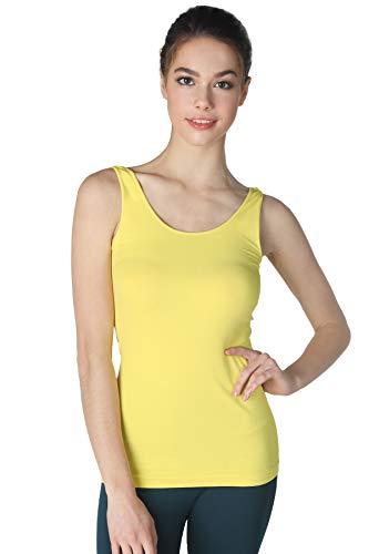 NIKIBIKI Women Seamless Premium Classic Tank Top, Made in U.S.A, One Size (Lemon)]()