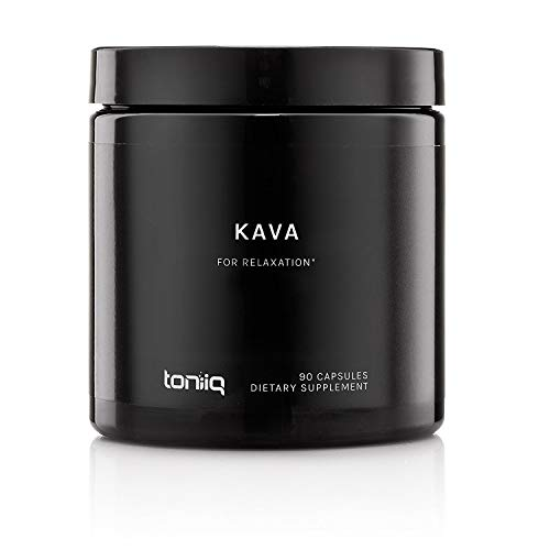 Kava Kava Capsules from Polynesia by Toniiq | 30% Standardized Kavalactones | Superior Kava Root Extract for Natural Stress Relief | Tea and Powder Alternative | 90 Veggie Capsules