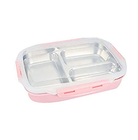 1e84c446f74a Amazon.com: Mikash Stainless Steel Bento Box Kids Lunch Box Food ...