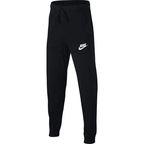NIKE Boy's Jersey Sportswear Pants (Black/Black, Medium)