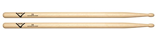 Vater 2B Wood Tip Hickory Drum Sticks, Pair ()