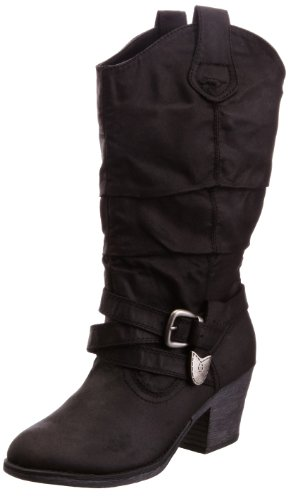 Rocket Dog Sidestep - Botas tacón, talla: 36, color: Negro (Schwarz)