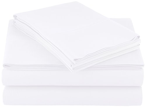 AmazonBasics Microfiber Sheet Set - King, Bright White