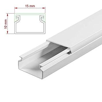 Kabelkanal 15 x 10mm Endst/ück Zubeh/ör Abschluss PVC Installationskanal Endkappe Montage