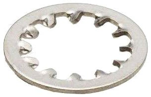 """Internal Tooth Lock Washer, Steel, Zinc Finish, #5 Bolt Size, 0.1330"""" ID, 0.2630"""" OD, 0.0190"""" Thick, Pack Of 100"""