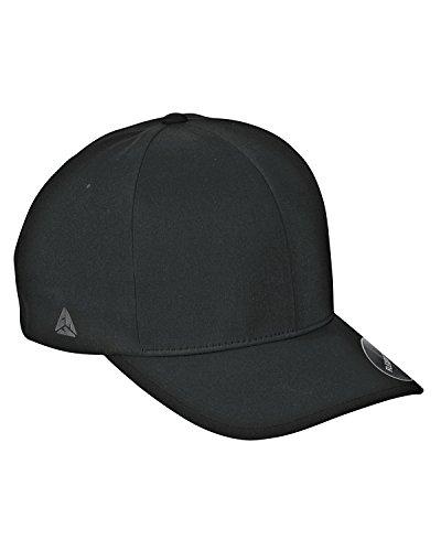 Flexfit Men's Seamless Fitted Flexfit Delta Cap, Black, ()