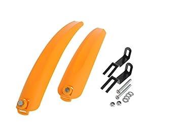 upanbike BMX Bicicleta Plegable Rueda pequeña bicicleta delantero y trasero guardabarros Fender Guardabarros Set, amarillo