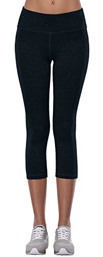 Aenlley Womens Activewear Yoga Pants High Rise Workout Gym Spandex Tights Capris Color DarkBlue Size XS