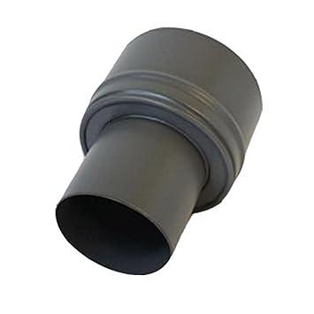 Pellet-Erweiterung  schwarz-matt 80-100mm Ofenrohr Rauchrohr Pelletofen