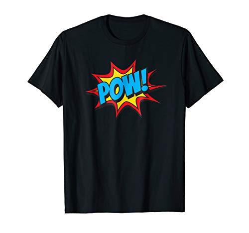Comic Book Pow Shirt Funny Retro Superhero