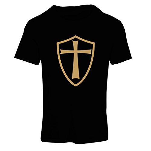 Camiseta mujer Caballeros Templarios - Escudo de los Templarios Negro Oro