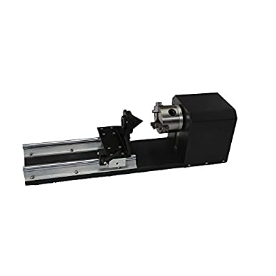 DIHORSE Rotary Axis Laser Engraver Rotary Attachment Laser Rotary Axis for Co2 Laser Engraving Machine with 50mm Accessory 240mm Track