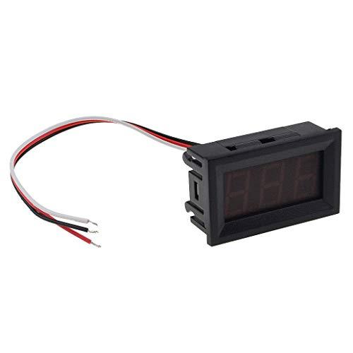 WOVELOT 0.56 Dc 0V-30V Voltmeter Led Display Volt Meter Digital Panel Meter(Red):