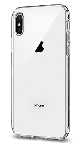 Spigen Liquid Crystal iPhone X Case with Slim Protection and Premium TPU for Apple iPhone X (2017) - Crystal Clear