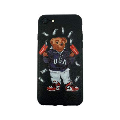 (Stylish Bear Custom Fashion Protective Flexible Case/Cover/Skin Leather Finish for iPhone (USA Bear, iPhone 6/6s))