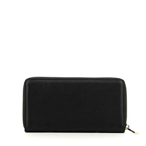 Zip Soft Metallic Azur Around Wallet Nero L Coccinelle qTUz6xnCw7