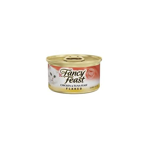 Fancy Feast Flaked Chicken & Tuna Feast Cat Food 3 oz, 12 Cans chic