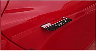 TopDall Car Door Handle Cover Trim Protector Sticker Decal 3D Real Carbon Fiber with Polyurethane for Tesla Model S