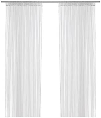 IKEA LILL mesh lace curtains, 8 panels 4 pairs , 110 x 98