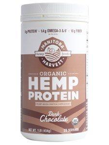Manitoba Harvest Organic Dark Chocolate Hemp Protein Powder, 16 Ounce - 3 per case. -  Manitoba Harvest Hemp Foods, 0729228