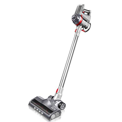 (Deik Cordless Vacuum Cleaner, Stick and Handheld Vacuum with Powerful Suction & Wall-Mount Silver  )