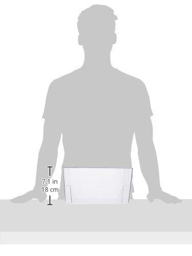 transparente Deflect-o DE73201 A4, horizontal, apilable Soporte de pared para documentos