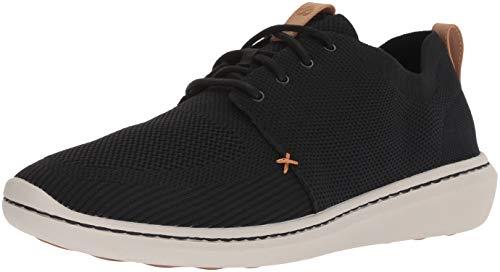 CLARKS Men's Step Urban Mix Sneaker, Black Textile Knit, 100 M US