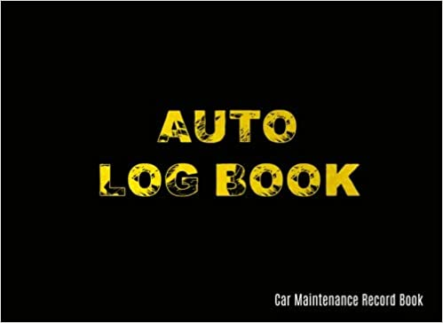 auto log book car maintenance record book car maintenance