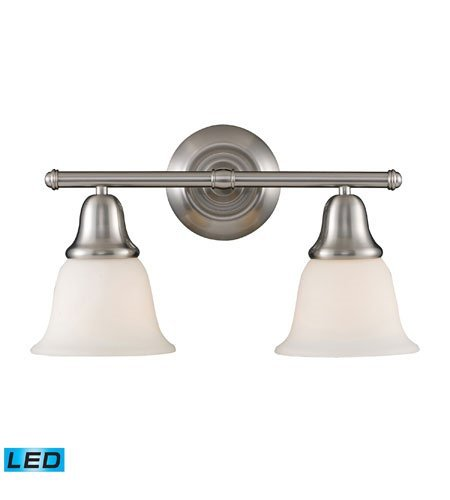 Bathroom Vanity 2 Light LED with Brushed Nickel Finish 17 inch 27 Watts - World of Lamp