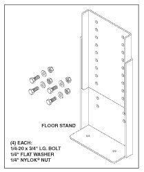 Adjustable Floor Stand RPH470 by Replacement Parts Industries RPI (Image #1)