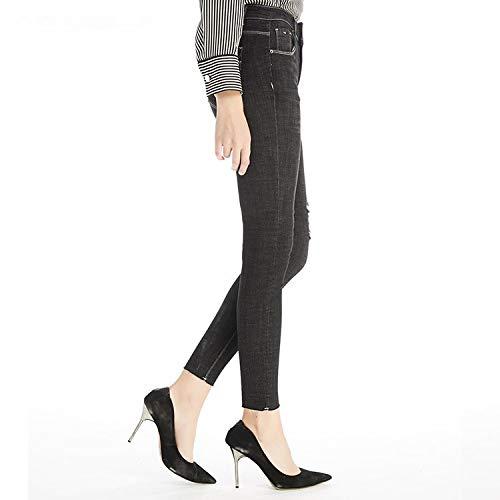 Fori Alti Blu Elasticizzata Mvguihzpo Scuro Vestibilità Calda Donna Jeans Invernali Xl Vita Eg6Og8qW
