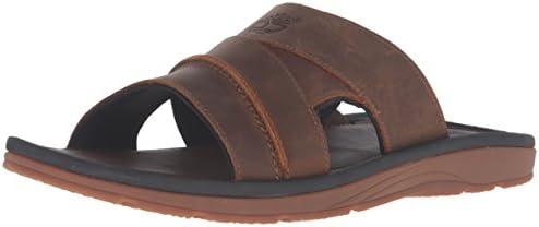 メンズ レザーサンダル EARTH KEEPERS Sandals Slide アースキーパーズ サンダルス スライド (BROWN) 5343A (29.0cm)