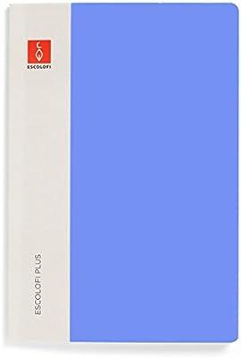 Escolofi Pack de 3 libretas piqué de 50 hojas de 90 gr/m2 DIN A4 línea 8 mm margen color azul: Amazon.es: Oficina y papelería