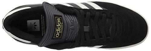 Adidas Originali Mens Busenitz Sneaker Core Nero, Bianco Gesso, Grigio Dgh Solido