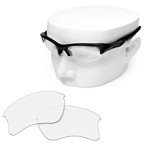 OOWLIT Replacement Sunglass Lenses for Oakley Flak Jacket XLJ HD Clear Non-polarized -