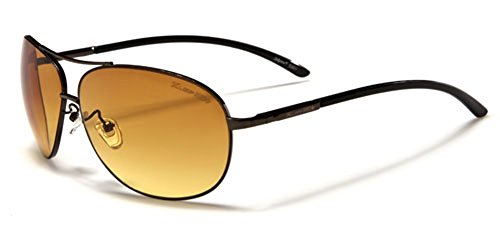 X-Loop HD Vision High Definition Lens Aviator Sunglasses wth Spring Hinge - - High Sunglasses Definition Aviator