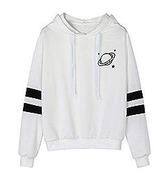 Amazon.com: Women Short Hoodie Sweatshirt Daoroka Ladies Long Sleeve Patchwork Printed Drawstring Hooded Pullover Blouse Fashion Autumn Winter Warm Causal ...