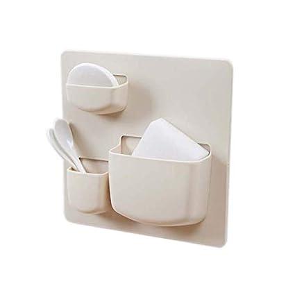 e-meoly Set de 2pcs creativo plástico pequeño artículos del hogar organizador para utensilios de