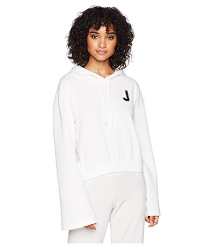 - Juicy Couture Women's J Pullover Hoodie White Small