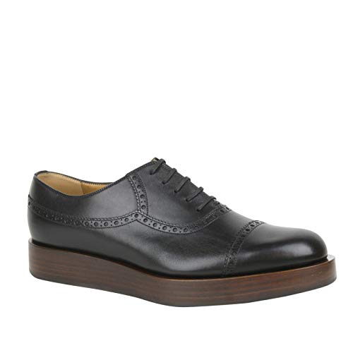 Gucci Lace-up Black Leather Platform Oxford Shoes 353028 1000 (10.5 G / 11.5 US)