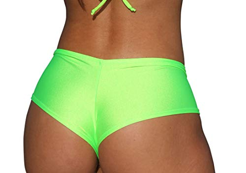 Belted Bootie - Sassy Assy Neon Green Basic Cheeky Booty Shorts