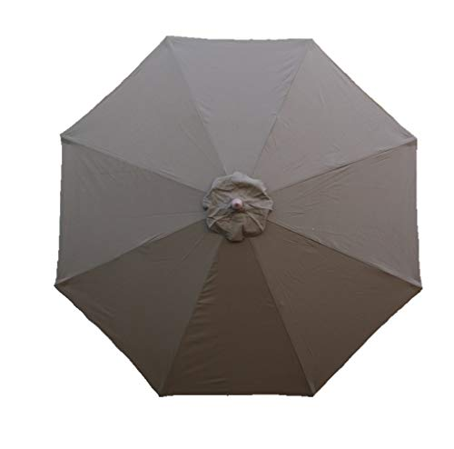 Formosa Covers 9ft Umbrella Replacement Canopy 8 Ribs in Cocoa (Canopy Only)
