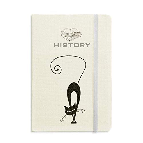 Walking Black Cat Halloween Animal History Notebook Classic Journal Diary A5 -