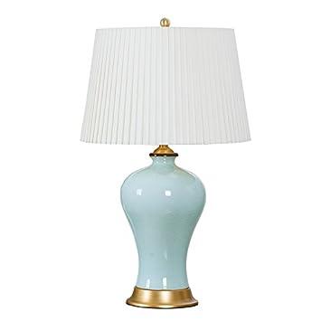 Lying Kupfer Knistern Celadon Schreibtisch Lampe Schlafzimmer