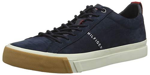 Tommy da Blu Scarpe 403 Uomo Derby Hilfiger Basse Ginnastica Nubuck Midnight Sneaker XwRXqr