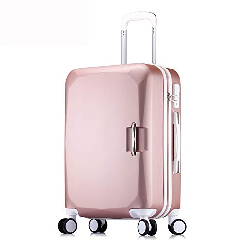 LIYONG Hard Shell Travel Trolley Suitcase Set Large Capacity Men and Women Tow Bag (Color : Rose Gold, Size : 26'')